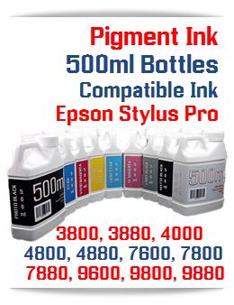 Pigment Ink for Epson Stylus Pro Printers 500ml bottles