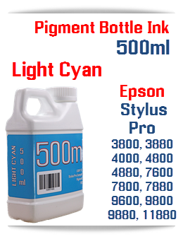 Light Cyan 500ml Bottle Pigment Ink Epson Stylus Pro