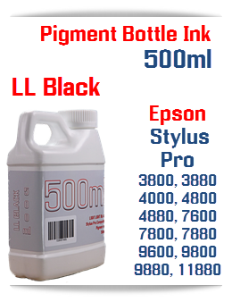 Light Light Black 500ml Bottle Pigment Ink Epson Stylus Pro