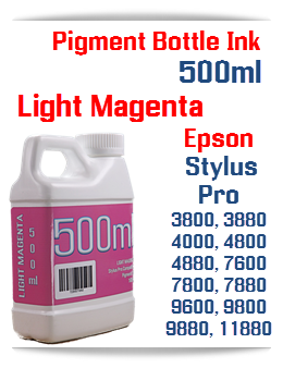 Light Magenta 500ml Bottle Pigment Ink Epson Stylus Pro