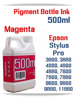 Magenta 500ml Bottle Pigment Ink Epson Stylus Pro