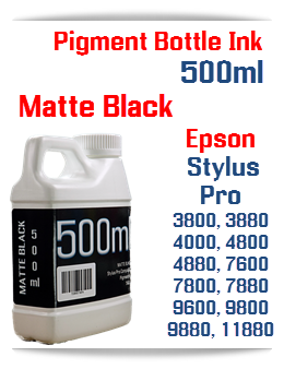 Matte Black 500ml Bottle Pigment Ink Epson Stylus Pro