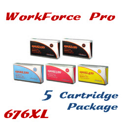 676XL WorkForce Pro 5 Cartridge Package