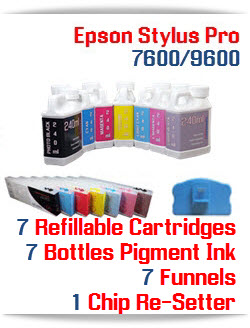 7 color package Refillable Ibnk Cartridge Package