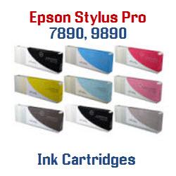 Epson Stylus Pro 7890, 9890 700ml compatible ink cartridges
