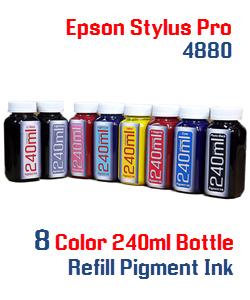 8 240ml Pigment Ink Refill Epson Stylus Pro 4880