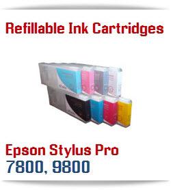 Epson Stylus Pro 7800, 9800 Refillable Ink Cartridges