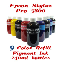 9 Color 240ml Refill Pigment Ink Stylus Pro 3800