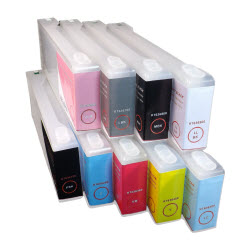 9-Stylus Pro 7890/9890 Refillable Ink Cartridges