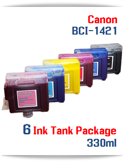 6 Ink Tank Package BCI-1421 Canon compatible pigment printer Ink Tanks
