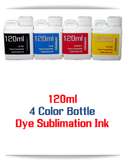 4 120ml Dye Sublimation Bottle Ink