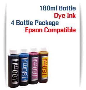 4 Color Package Dye Ink 180ml bottles