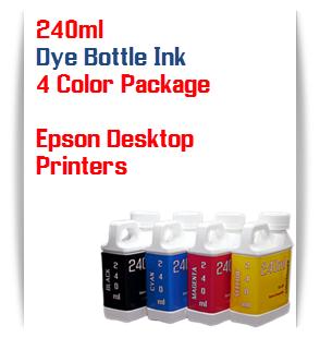 4 Bottles 240ml Dye Ink Epson Desktop Printers