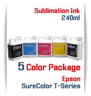 5 Bottles 240ml Dye Sublimation Ink