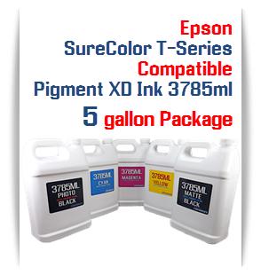 5 Bottles 37850ml Pigment XD Ink
