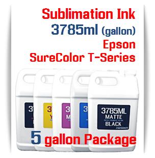 5 Bottles 3785ml Dye Sublimation Ink