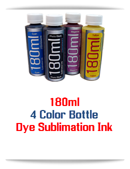4 180ml Dye Sublimation Bottle Ink