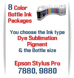 8 Bottles of printer ink Epson Stylus Pro 7880, 9880