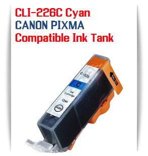CLI-226C Cyan Compatible Canon Pixma printer Ink Cartridge W/ Chip
