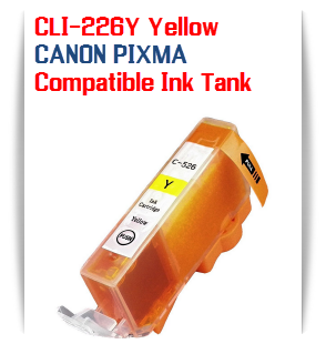 CLI-226Y Yellow Compatible Canon Pixma printer Ink Cartridge W/ Chip