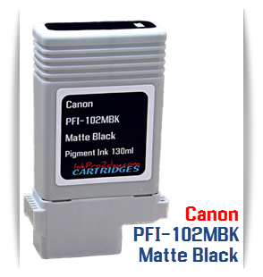 Matte Black Canon PFI-102 imagePROGRAF Compatible Ink Tank 130ml