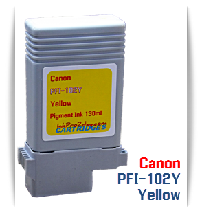 PFI-102Y Yellow Canon imagePROGRAF Compatible Pigment Printer Ink Tank 130ml