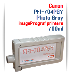 Photo Gray Canon imageProGRAF iPF8300, iPF8300S, iPF9300, iPF9300 Compatible Pigment Ink Tank 700ml