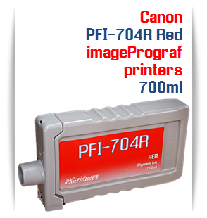 Red Canon imageProGRAF iPF8300, iPF8300S, iPF9300, iPF9300 Compatible Pigment Ink Tank 700ml