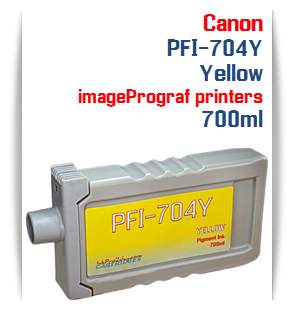 Yellow Canon imageProGRAF iPF8300, iPF8300S, iPF9300, iPF9300 Compatible Pigment Ink Tank 700ml