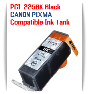 PGI-225BK Black Compatible Canon Pixma printer Ink Cartridge W/ Chip