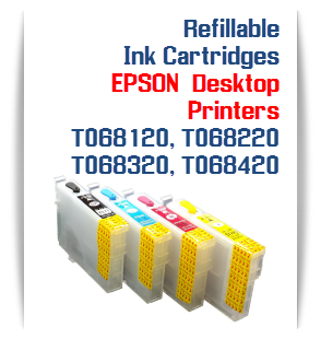 Refillable Ink Cartridges EPSON WorkForce T068120-T068420
