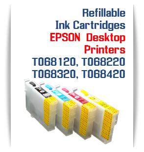 Refillable Ink Cartridges EPSON WorkForce T068120-T068420