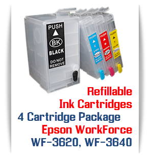 4 Cartridge Package T252XL Epson WorkForce WF-3620, WF-3640