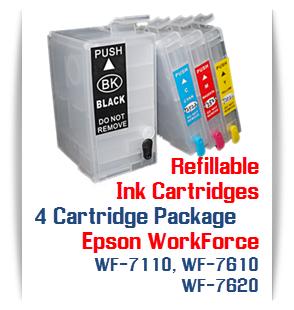 4 Cartridge Package T252XL Epson WorkForce WF-7110, WF-7610, WF-7620