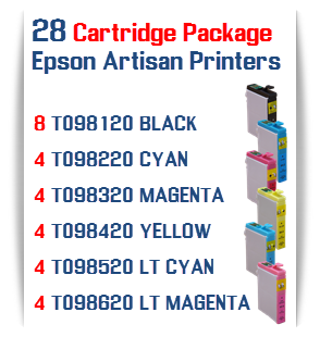 28 Cartridge Package Epson Artisan Printers