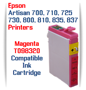 Epson Artisan T098320 Magenta Compatible Printer Ink Cartridge