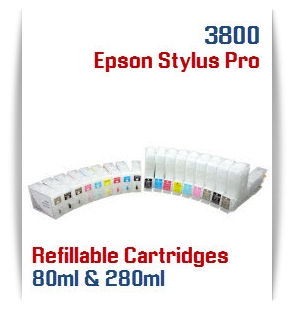 Refillable ink cartridges Epson Stylus Pro 3800 printers
