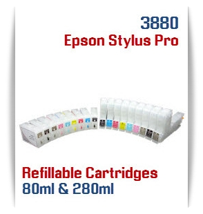 Refillable ink cartridges Epson Stylus Pro 3880 printers