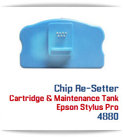 Chip Re-Setter Epson Stylus Pro 4880 Maintenance Tank and Cartridges