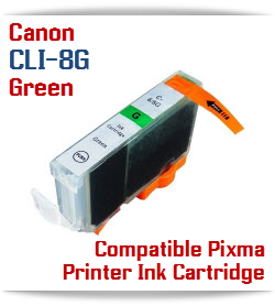 CLI-8G Green Compatible Canon Pixma printer Ink Cartridge W/ Chip