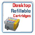 Refillable Desktop Printer Ink Cartridges