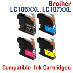 LC 105XXL, LC 107XXL Brother Ink Cartridges