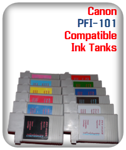 PFI-101 Canon Compatible Ink Tanks