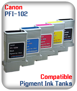 PFI-102 Canon Compatible Pigment Ink Tanks