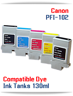 PFI-102 Canon Compatible Dye Ink Tank 130ml