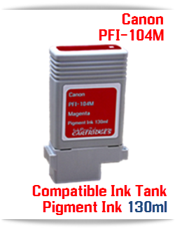 PFI-104M Canon Compatible Pigment Ink Tank 130ml