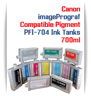 PFI-704 Canon imagePROGRAF iPF8300, iPF8300S, iPF9300 compatible printer Pigment Ink Tanks 700ml