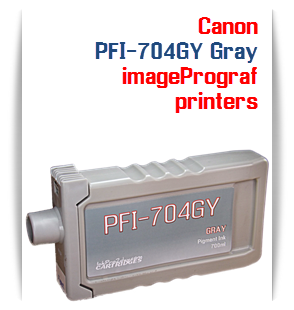 PFI-704GY Gray Canon imagePrograf iPF8300, imagePrograf iPF8300S, imagePrograf iPF9300, imagePrograf iPF9300S Compatible Pigment Ink Tank 700ml