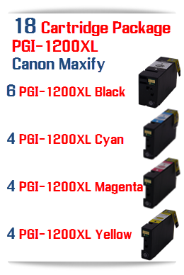 18 Ink Cartridges PGI-1200XL Compatible Pigment Ink Cartridge Canon Maxify MB2020, MB2320 printers