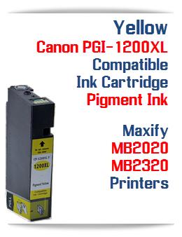 Yellow PGI-1200XL Compatible Ink Cartridge Canon Maxify MB2020, MB2320